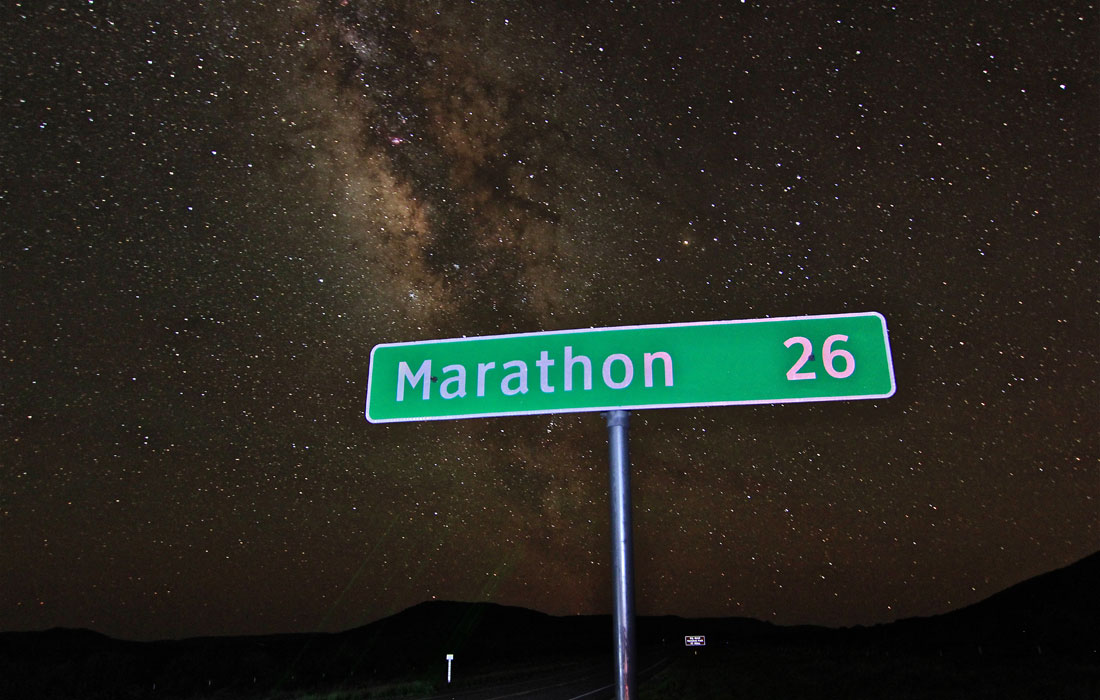 Dark Skies Marathon Texas